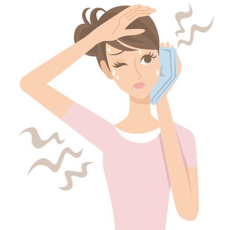 Women of body odor from the body 일러스트