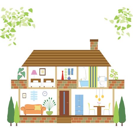 House floor single detached house