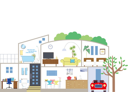 House layout Stock Illustratie