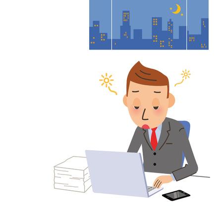 Male company employee to a doze