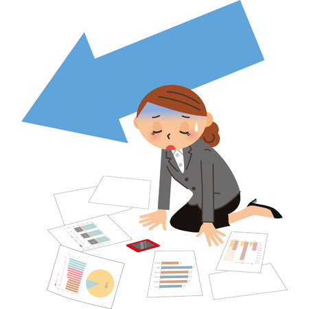Female employee who falls in sales
