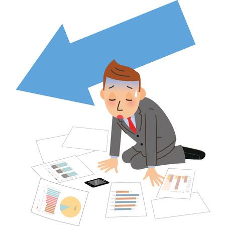 Male employee who falls in sales