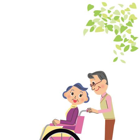 Nursing care of wheelchair granny
