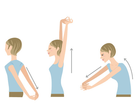 Stretch with shoulder and back Stock Illustratie