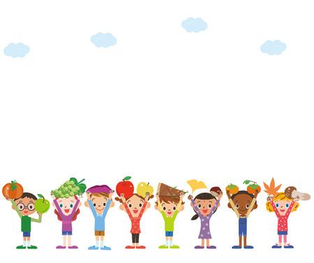 Harvesting ingredients Children sky