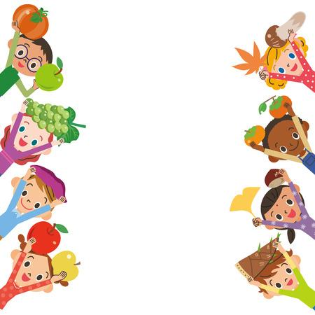 Harvesting ingredients Childrens upper body