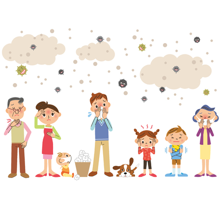 Die ganze Familie kalt Vektorgrafik