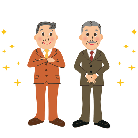 Healthy senior company employee Иллюстрация