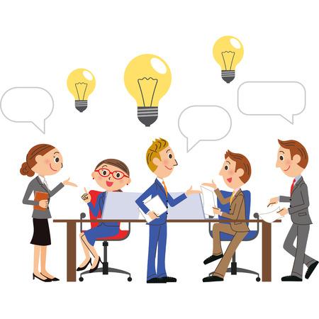 Employé de l'entreprise à la conférence d'idées