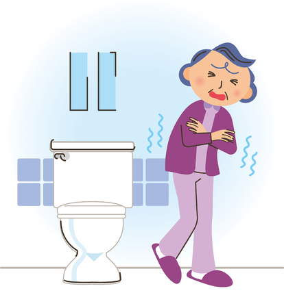 grandma in Cold toilet