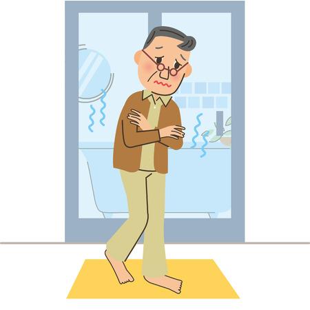 Grandpa in Cold bathroom