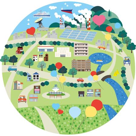 Life city area industrial area