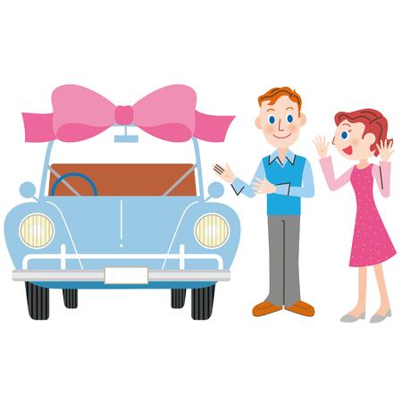 Presence of new car  イラスト・ベクター素材