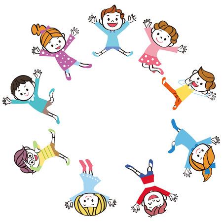 Childrens wheel to jump  イラスト・ベクター素材