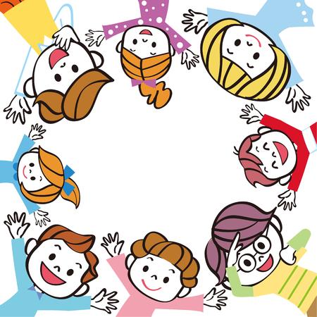 Children group enclosure frame