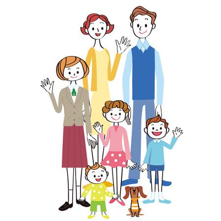 Happy family Stockfoto - 121946320