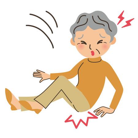 Grandma hitting the Vector Illustratie