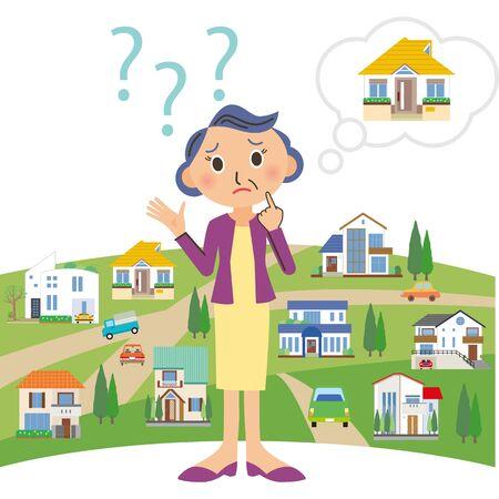 I can't understand my house, Grandma Stockfoto - 128031718