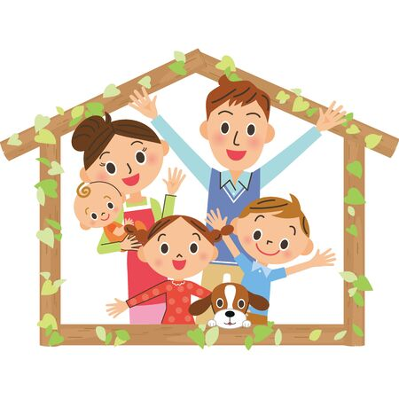 Tree House Family Friends Family House Frame