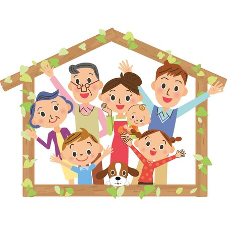 Tree House Three Generation Family Friends Family House Frame