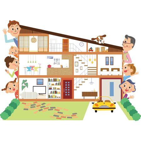 Maison Résidence familiale trigénérationnelle maison unifamiliale