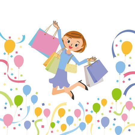 Women who buy sale items Ilustrace