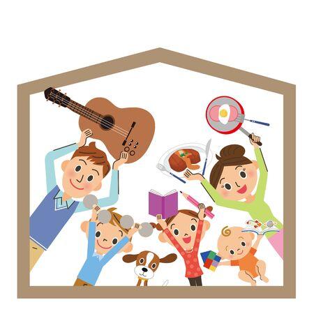 How to spend at a family home Ilustração