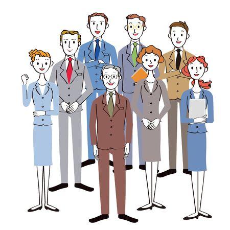 Teamwork of office workers