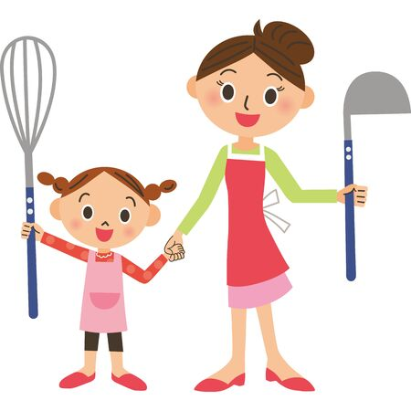Parents and children who enjoy cooking