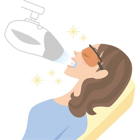 woman doing teeth Whitening