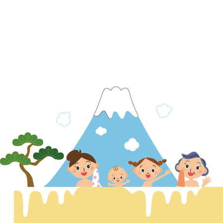 Public bath, women's bath, travel bath, parent and child