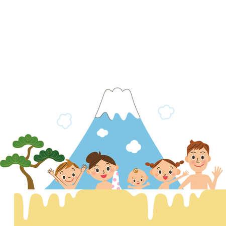 Public bath family travel bath parent and child mixed bathing