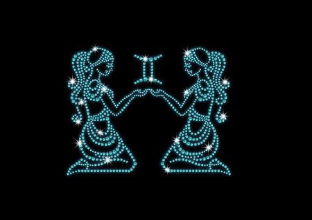 fake diamond: signs of the zodiac of diamonds twins
