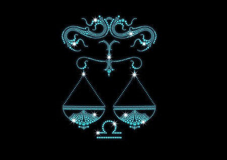 signs of the zodiac of diamonds libra Vector
