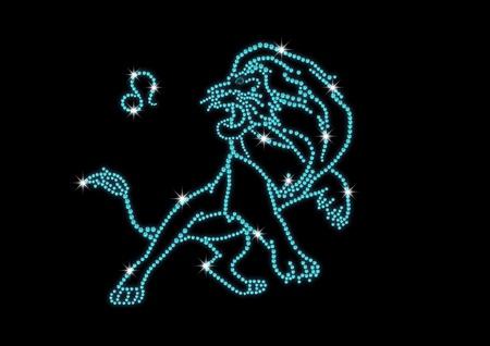 signes du zodiaque: signes du zodiaque de diamants leo