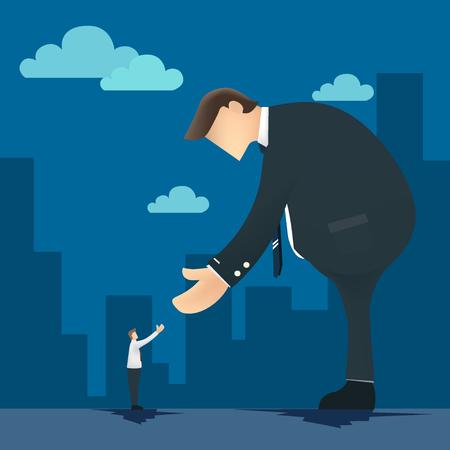unrecognizable: Business Handshake Illustration