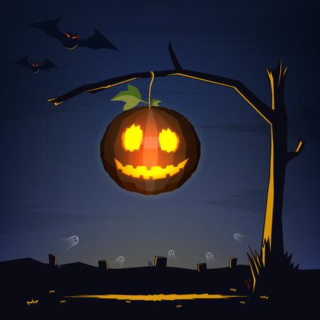 12 o'clock: Halloween Illustration