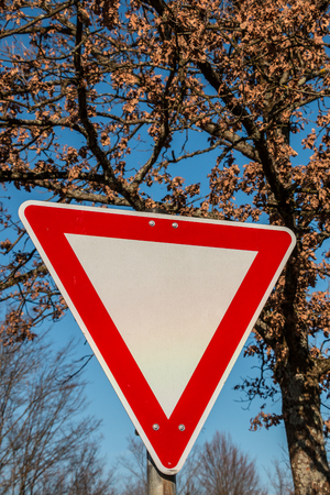 Traffic sign on the road