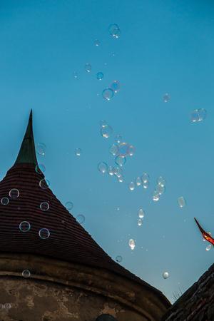 Soap bubbles in the sky