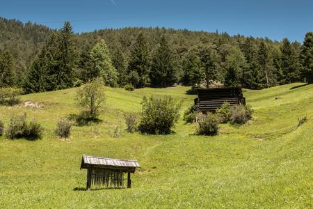 Fields in the mountains Lizenzfreie Bilder