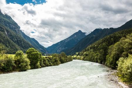 Mountains and river Lizenzfreie Bilder