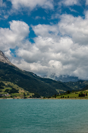 Mountains and lake Lizenzfreie Bilder