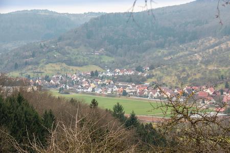 Village down the valley