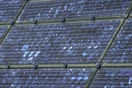 energy picture: picture of modern solar energy panels Stock Photo