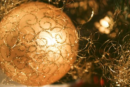 decora: a close up of a christmas bauble Stock Photo