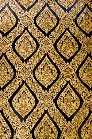 Thai Pattern style on church wall, bangkok, thailand photo