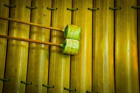 tuneful: Thai xylophone instrument. Stock Photo
