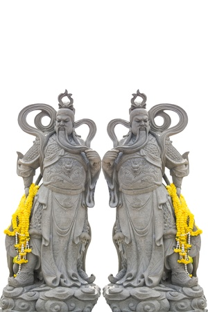 The ancient Chinese warrior statues