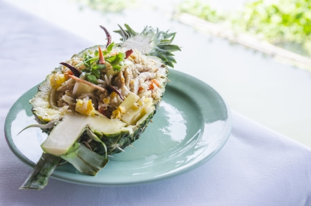 Pineapple Fried Rice on dish photo