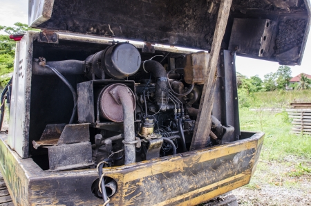 a detial old rusted engine photo